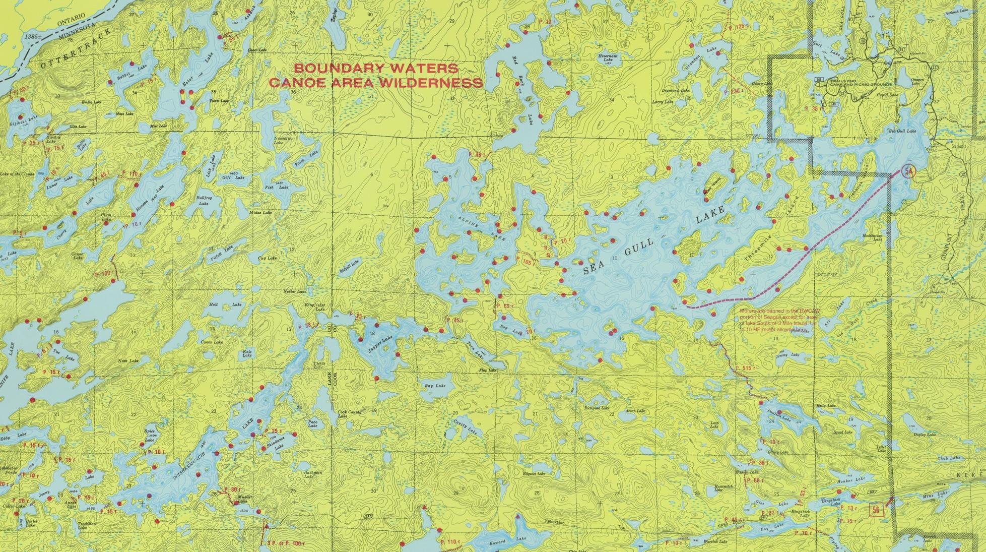 Bwca Fire Map.Ogishkemuncie Lake Base Camp Seagull Canoe Outfitters Lakeside