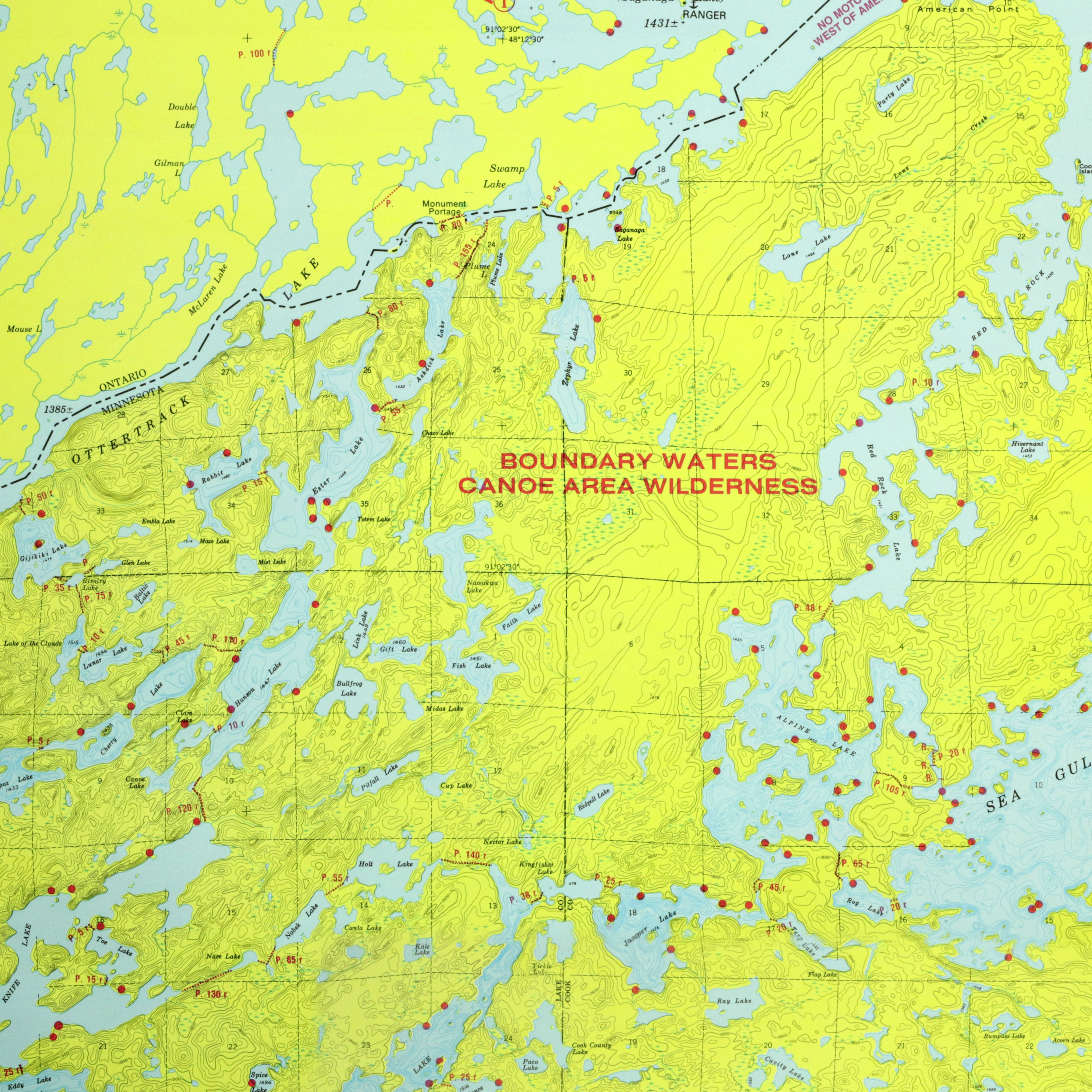 Ester Hanson Lake Base Camp Seagull Canoe Outfitters - Bwca entry point map