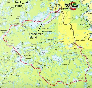 Frost River Route Seagull Canoe Outfitters Lakeside Cabins - Bwca entry point map